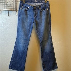 """7 for all mankind """"A"""" pocket jeans size 28"""